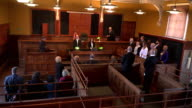 4K: Judge enters the Courtroom for Court Case video