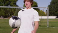 Juggle soccer ball video