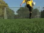 Juggling soccer ball video