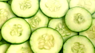 Juicy Cucumber Slices Rotating video