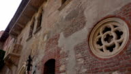 Juliets house with famous Romeo and Juliet balcony in Verona Italy video