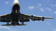 jumbo jet  aircraft super slow motion video