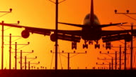 Jumbo Jet Landing Wide with Audio video