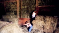 Jumping In Barn video