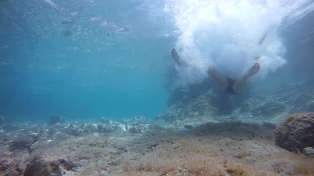 HD SLOW MOTION: Jumping Into Shallow Water video