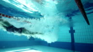 Jumping into the swimming pool video