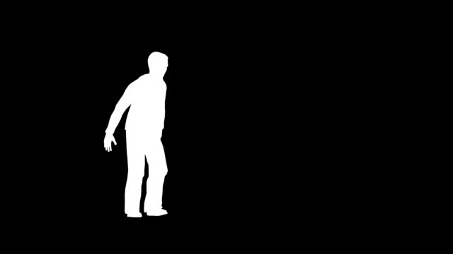 Jumping man silhouette video
