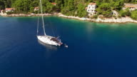 AERIAL Jumping off the sailboat video