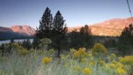 June Lake at Sunrise Tracking Shot Right Fast video