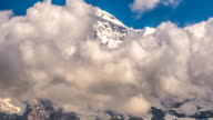 Jungfrau mountain peak covered in clouds time lapse Switzerland video