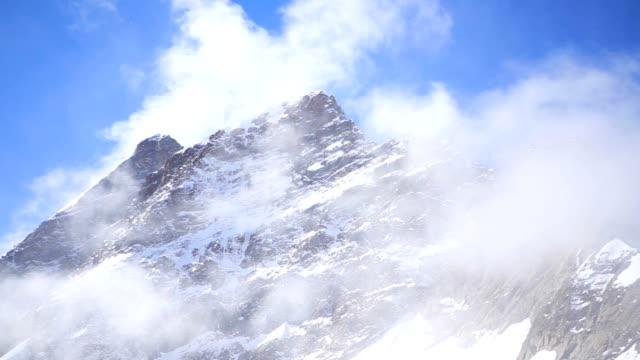 Jungfraujoch Sphinx Observatory Grindelwald mountain Alps snow ice video