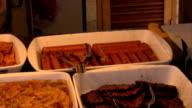 Junk food buffet video