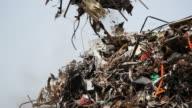 Junkyard claws sorting trash video