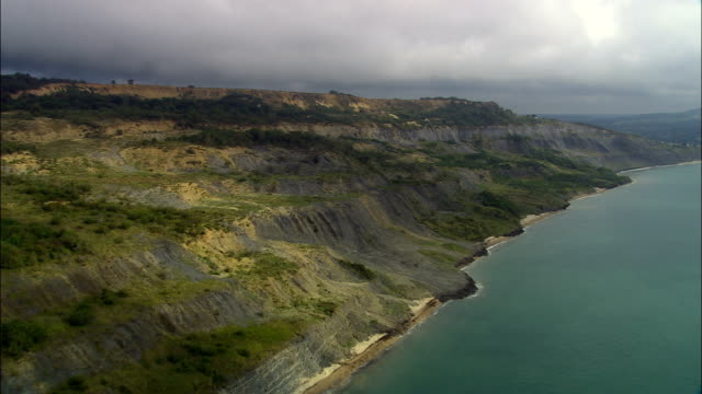 Jurassic Coast  - Aerial View - England, Dorset, West Dorset District, United Kingdom video