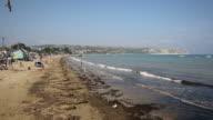 Jurassic Coast Swanage beach Dorset England UK video