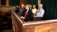 Jury listening to a Legal case in court video