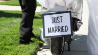 Just Married Sign video