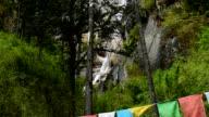 Kadinggou holy mountains waterfall in Tibet 03 video