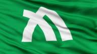 Kagawa Prefecture Isolated Waving Flag video
