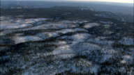 Kaibab National Forest In Snow  - Aerial View - Arizona,  Coconino County,  United States video