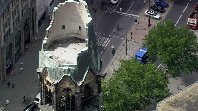 Kaiser Wilhelm Memorial Church  - Aerial View - Berlin,  Berlin,  Stadt,  Germany video