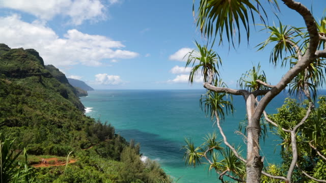 Kalalau Trail Landscape, Napali Coast State Park, Kauai, Hawaii video