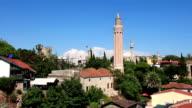 Kaleici - old town. Yivli minaret. Antalya, Turkey video