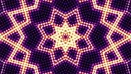 Kaleidoscope Abstract Disco Dance Lights Background, Loop video