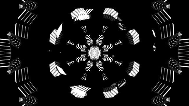 Kaleidoscope black and white video