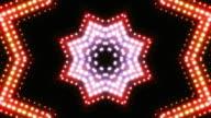Kaleidoscope of changing lights loop video