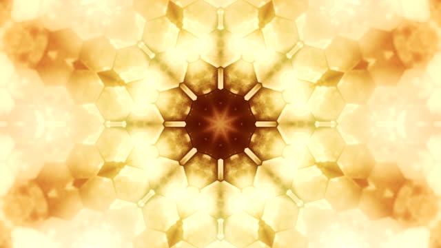 Kaleidoscope shapes loop video
