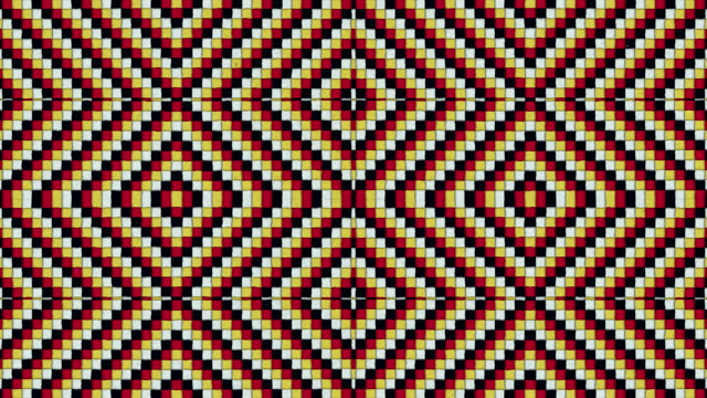 Kaleidoscopic Shapes Rhombus Colorful Seamless Looping Background video