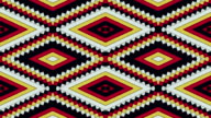 Kaleidoscopic Shapes Stripes and Rhombus Colorful Seamless Looping Background video