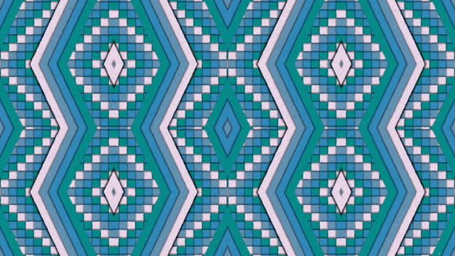 Kaleidoscopic Shapes Stripes and Squares Colorful Seamless Looping Background video