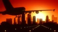 Kansas City Missouri USA America Skyline Sunrise Landing video