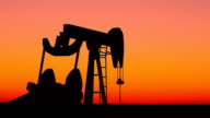 Kansas Oil Pump At Sunset video