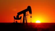Kansas Oil Pump With Setting Sun video