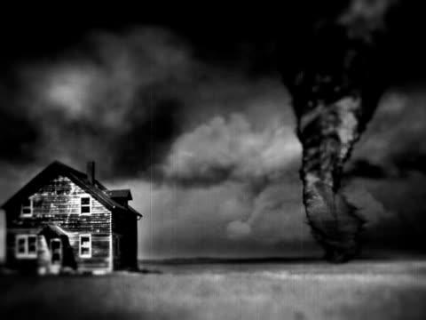 Kansas Twister Tornado in Black and White video