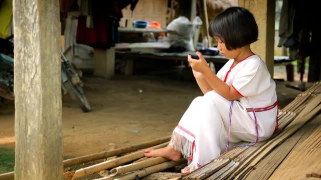 Karen girl playing Smart Phone video