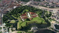Kastellet - Aerial View - Capital Region, Copenhagen municipality, Denmark video
