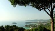 kata karon beach viewpoint phuket island thailand video