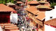 Kathmandu cityscape, Durbar Square, Nepal video