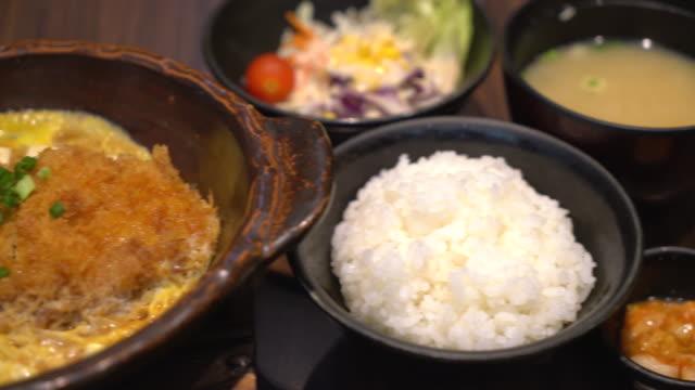 Katsudon - Japanese breaded deep fried pork video