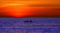 Kayak after sunset video