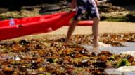 Kayak Canoe On The Beach video
