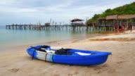 Kayak on tropical beach video