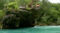 HD: Kayaker Jumping Off The Rock video