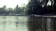 Kayaker moving through the water video