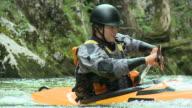 HD SLOW-MOTION: Kayaker video