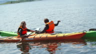 Kayakers Chatting on Water video